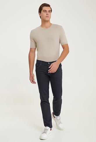 Ds Damat Slim Fit Saks Mavi Düz Chino Pantolon - 8681779292432 | D'S Damat