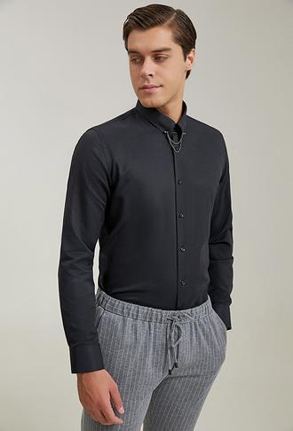 Tween Slim Fit Siyah Gömlek - 8682364901760 | Damat Tween