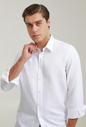 Tween Slim Fit Beyaz Gömlek - 8682364906369 | Damat Tween