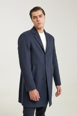 Ds Damat Regular Fit Lacivert Palto - 8682445444568   D'S Damat