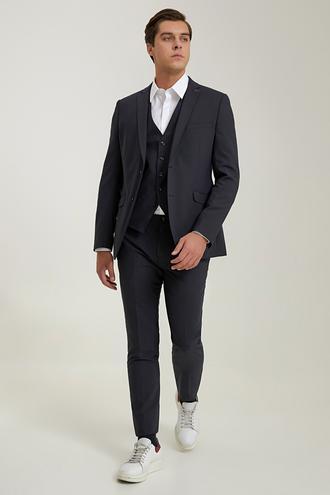 Tween Slim Fit Lacivert Yelekli Takım Elbise - 8682364899050 | Damat Tween