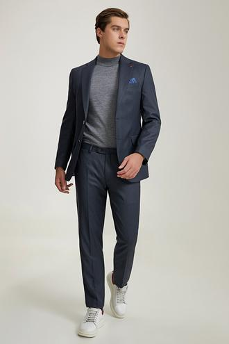 Ds Damat Slim Fit Lacivert Çizgili Takım Elbise - 8682445620887 | D'S Damat