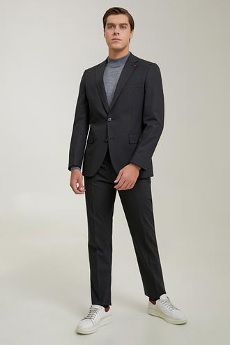 Ds Damat Slim Fit Siyah Düz Travel Takım Elbise - 8682445701432 | D'S Damat