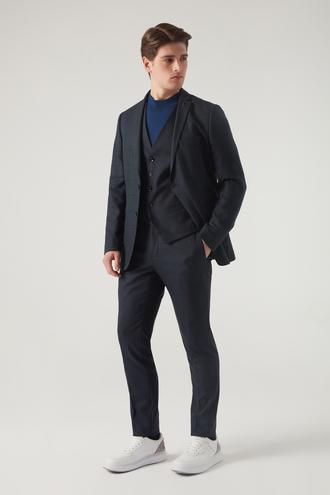 Tween Slim Fit Lacivert Yelekli Takım Elbise - 8682364832934 | Damat Tween