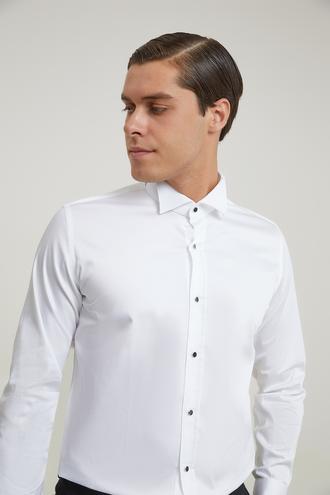 Ds Damat Slim Fit Beyaz Düz Smokin Gömlek - 8681494029559 | D'S Damat
