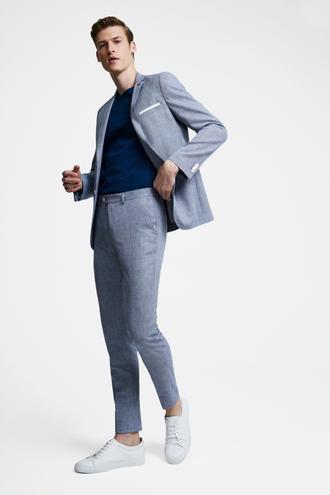 Tween Slim Fit Lacivert Desenli Takım Elbise - 8681649902973 | Damat Tween